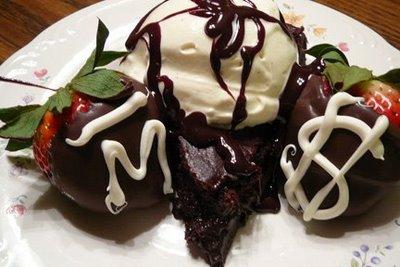 Flourless Chocolate Cake and Ice Cream