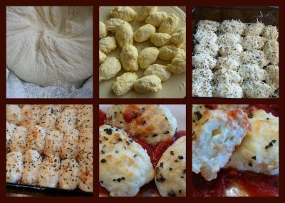 A collage of Gnocchi