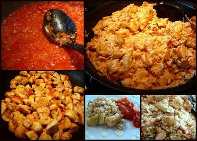Spanish Rice Collage