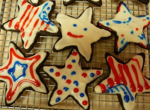 Featured Image for post 4th of July Chocolate Cookie Cutouts