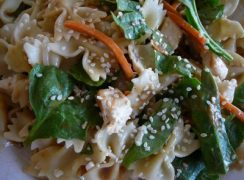 Featured Image for post Quick Asian Spinach Salad