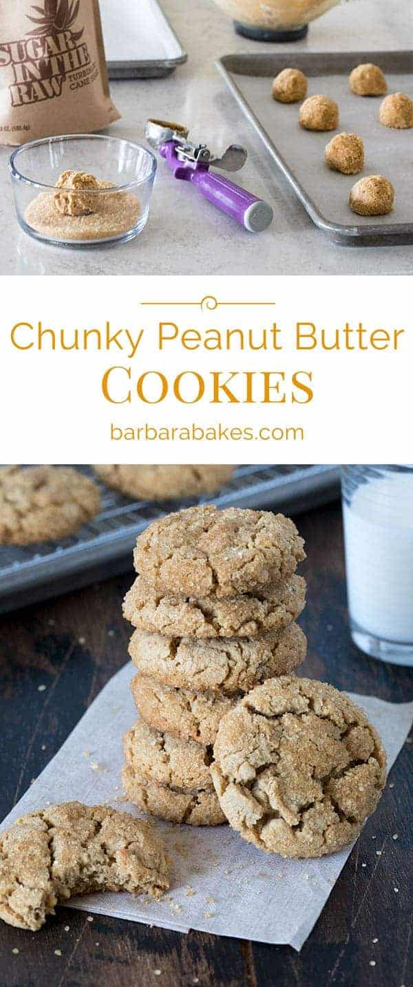 Chunky Peanut Butter Cookies Collage