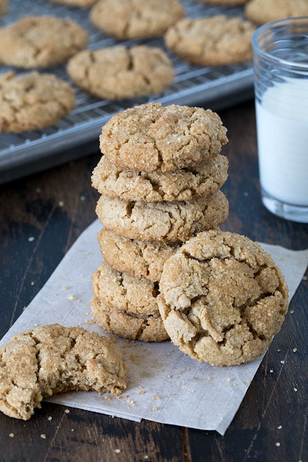 A stack of Chunky Peanut Butter Cookies