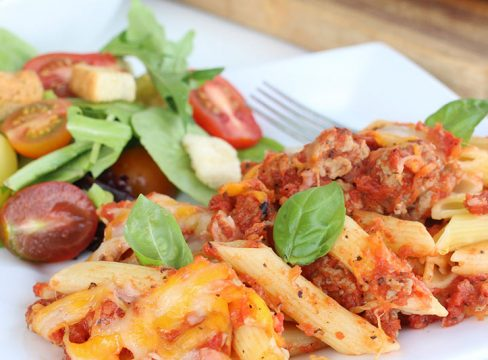 Featured image for Chicken Sausage Pasta Bake