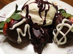 Flourless-Chocolate-Cake-and-Ice-Cream