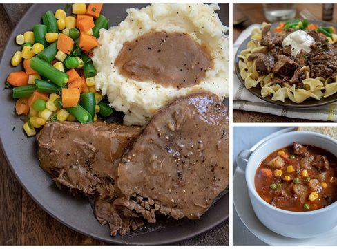 collage of Three-Round-Steak-Meals