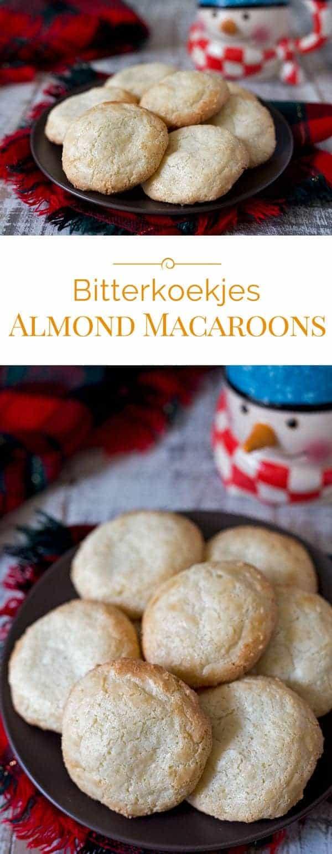Bitterkoekjes (Almond Macaroons) photo collage