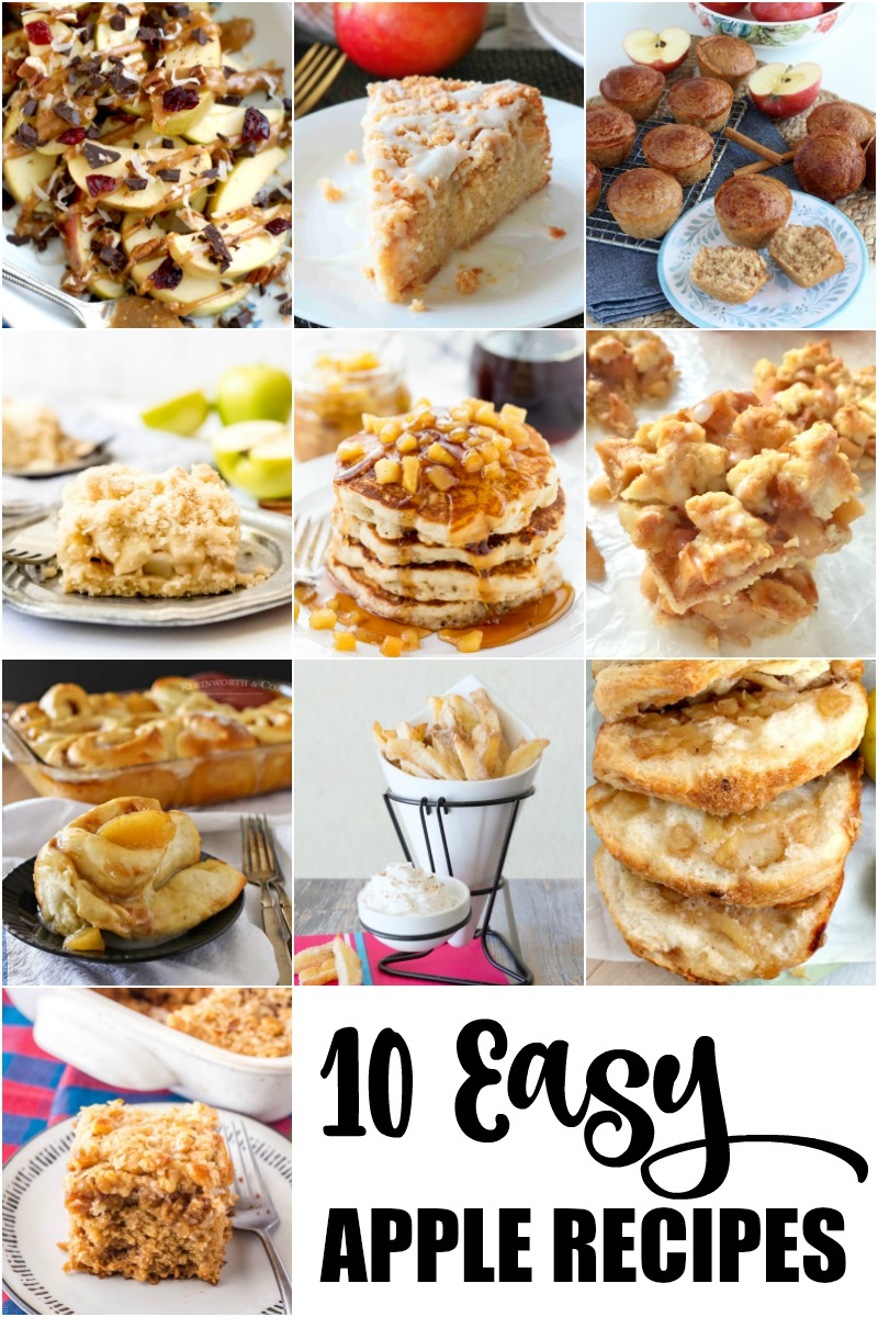 10 Easy Apple Recipes photo collage