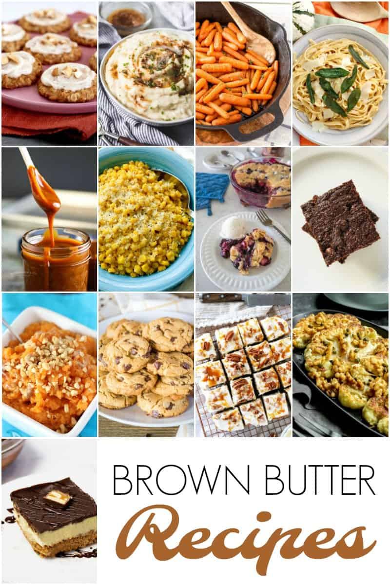 A collage of photos from Brown Butter Recipe Roundup