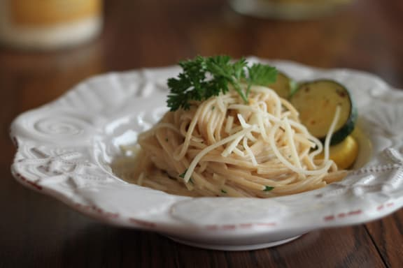Linguine in Lemon Cream Sauce