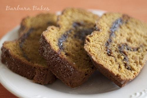Pumpkin Nutella Swirl Bread