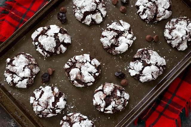 Featured Image for post Black Forest Crinkle Cookies