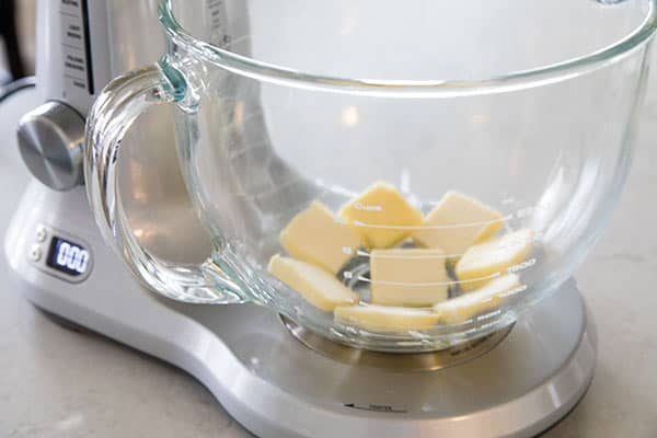 Cut your butter into pieces so it comes to room temperature quickly.