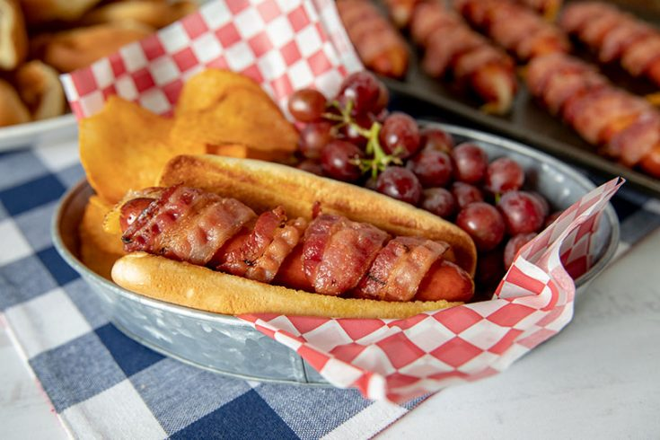 Featured image of Bacon Wrapped Cheese Hot Dogs