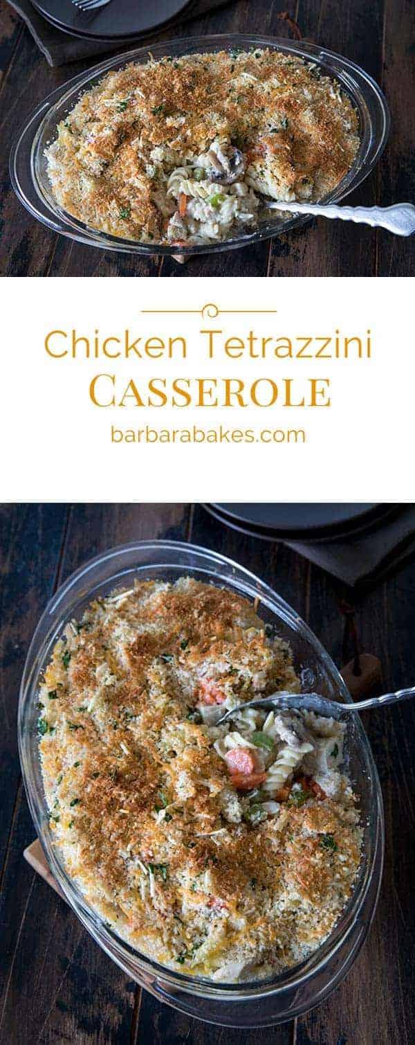 Chicken Tetrazzini Casserole Collage