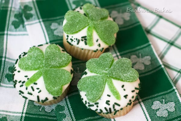 Lemon Shamrock Cupcakes