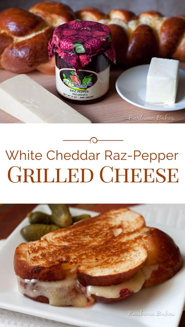 Collage of White-Cheddar-Raz-Pepper-Grilled-Cheese