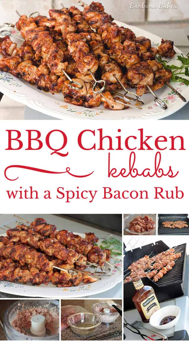 BBQ-chicken-kabobs- collage -Barbara-Bakes