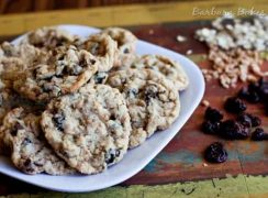 Featured Image for post Cherry Chocolate Chip Oatmeal Toffee Cookies
