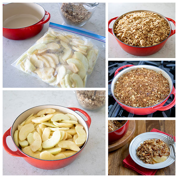 collage of Making-Perfect-Apple-Crisp