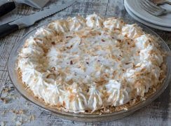 Featured Image for post Coconut Cream Pie in a Shortbread Crumb Crust