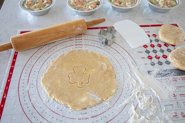 Making Pie Dough For St. Patrick\'s Day Chicken Pot Pie