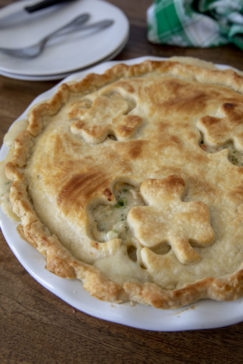 Pressure Cooker Chicken Pot Pie for St. Patrick\'s Day