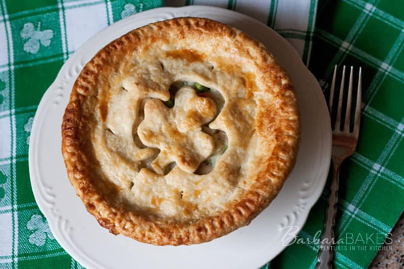 Homemade Chicken Pot Pie for St. Patrick\'s Day
