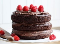 Featured Image for post Hazelnut Chocolate Mousse Cake