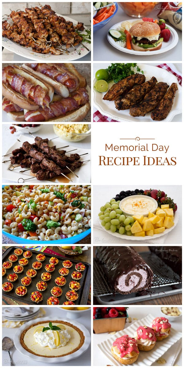 Memorial Day kicks off barbecue season so to help you plan your Memorial Day barbecue, I'm sharing some of my favorite barbecue recipes and some other Memorial Day recipe ideas I'd like to try this weekend too.