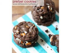 Featured Image for post Chocolate Caramel Pretzel Cookies
