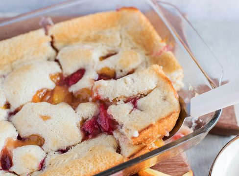 Featured image of Raspberry Peach Cobbler