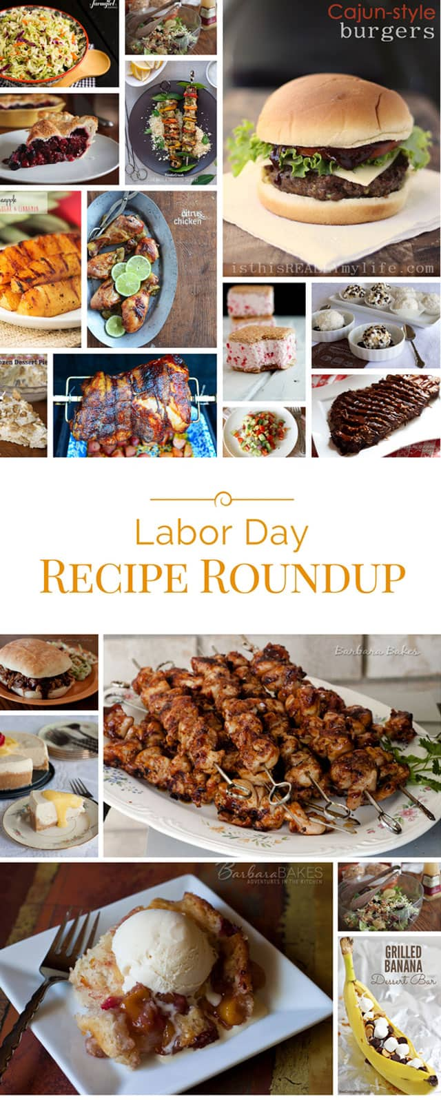 Collage of 50+ Mouth-watering Labor Day Recipes perfect for a Labor Day barbecue or picnic.