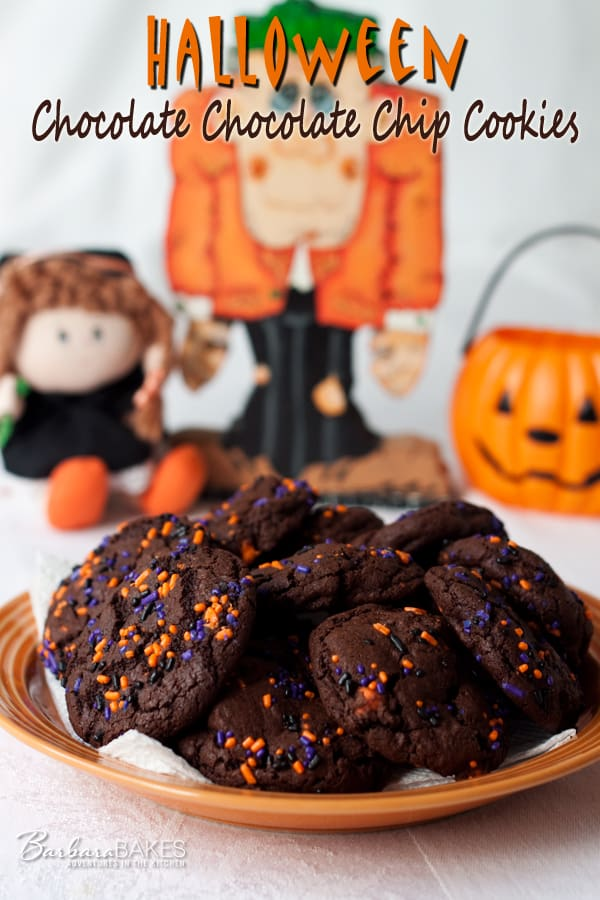 Halloween Chocolate Chocolate Chip Cookies
