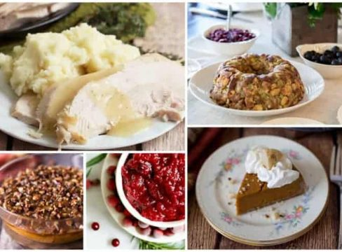 collage of Best Thanksgiving Recipe Roundup
