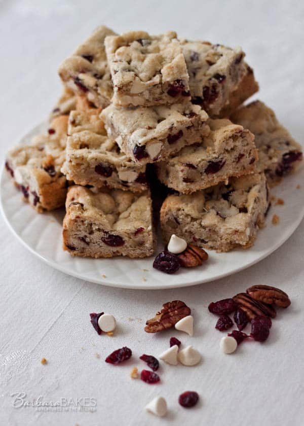 Featured Image for post White Chocolate Cranberry Pecan Bars