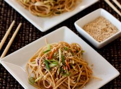 Featured Image for post Whole Wheat Noodle Salad with a Spicy Peanut Sauce