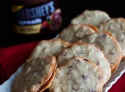Featured Image for post Almond Cookie Crisps with a Chocolate Almond Filling
