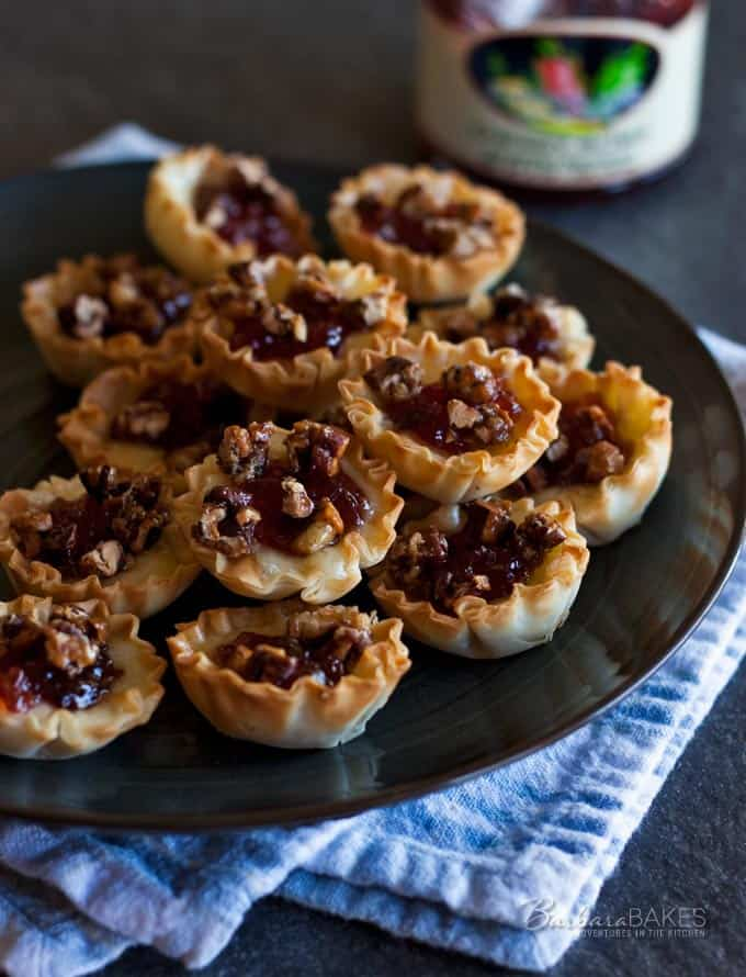 Featured Image for post Baked Cherry Jalapeno Brie Bites