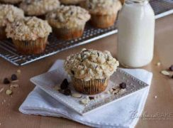 Chunky Monkey Banana Muffins recipe from Barbara Bakes