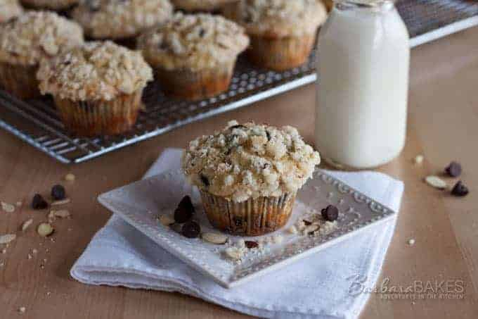 Chunky Monkey Banana Muffins recipe from Barbara Bakes