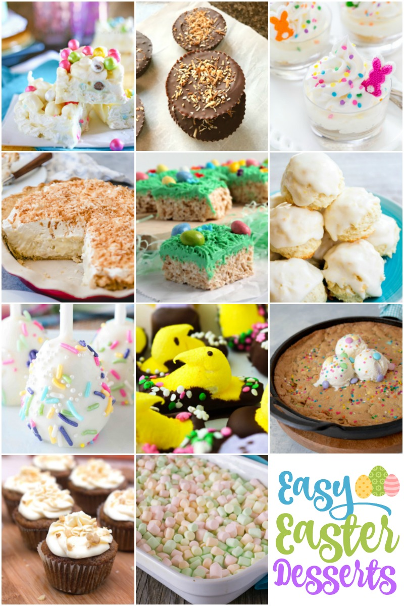 collage of Easy Easter Desserts