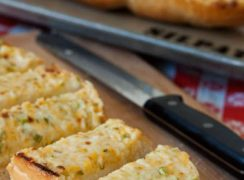 Featured Image for post Three Cheese Garlic Bread