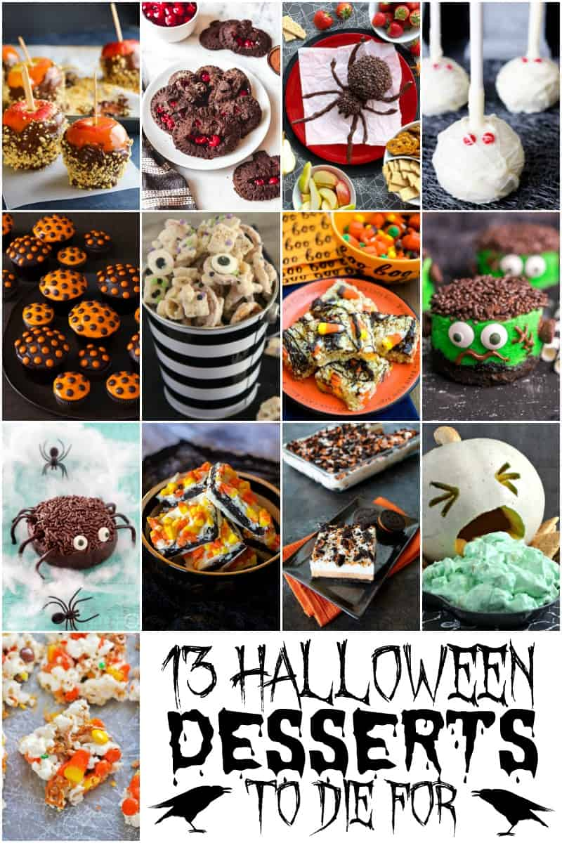 collage of 13 Halloween Desserts to Die For