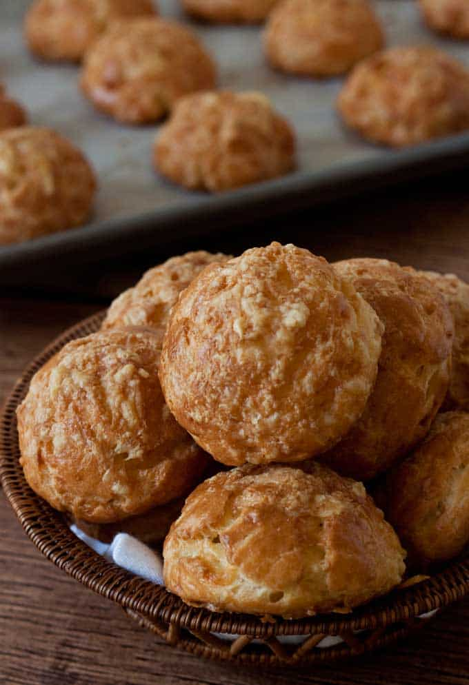 Featured Image for post Gougeres - Savory Cream Puffs