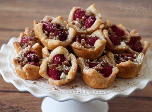 Raspberry-White-Chocolate-Rugelach-Bites-Barbara-Bakes