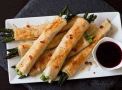 Featured Image for post Phyllo, Parmesan, Bacon Asparagus Bundles