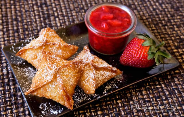 Featured Image for post - Strawberry Cheesecake Wontons