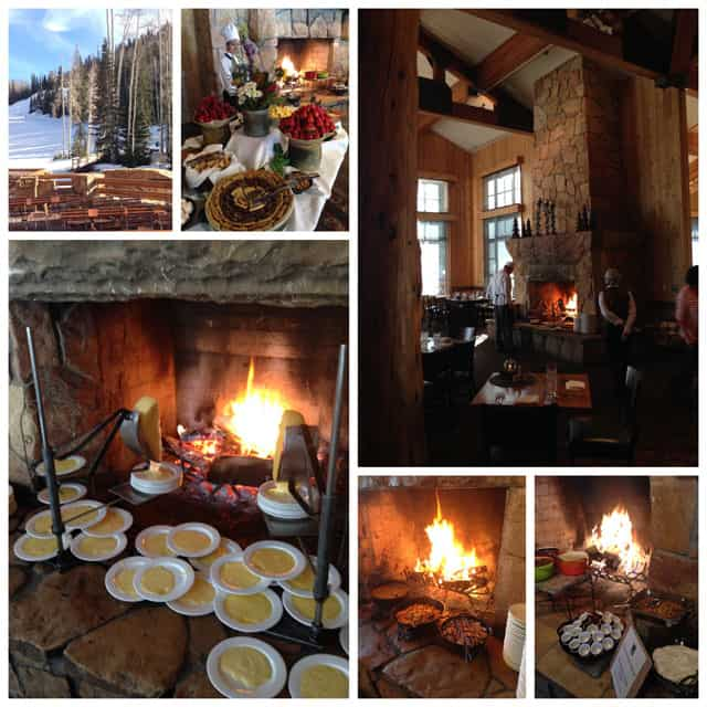 Collage of Deer Valley\'s Fireside Dining at the Empire Canyon Lodge in Park City