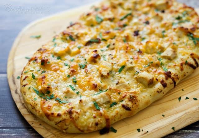 Featured Image for post Lemon Artichoke Pesto Chicken Flatbread